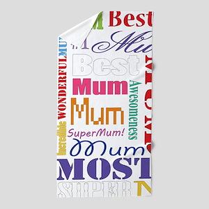 Text Mum Beach Towel
