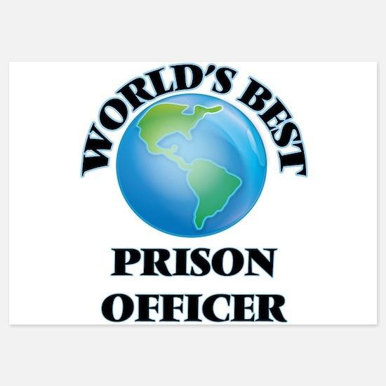 World's Best Prison Officer Invitations