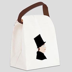 Gentleman Silhouette Canvas Lunch Bag