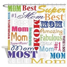 Text Mom Shower Curtain
