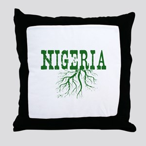 Nigeria Roots Throw Pillow