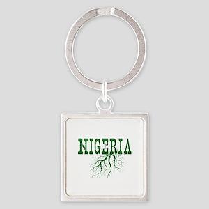 Nigeria Roots Square Keychain