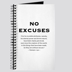No Excuses - Journal