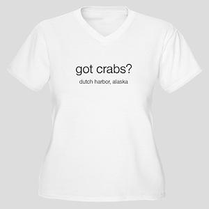 Got Crabs? Women's Plus Size V-Neck T-Shirt