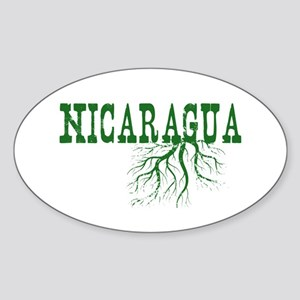 Nicaragua Roots Sticker (Oval)