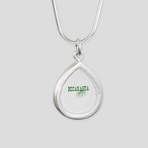 Nicaragua Roots Silver Teardrop Necklace