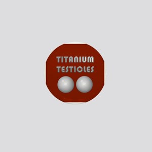 Titanium Testicles Mini Button