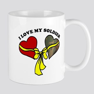 I Love My Soldier - Yellow Ribbon Mug