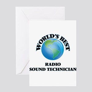 World's Best Radio Sound Technician Greeting Cards