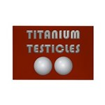 Titanium Testicles Rectangle Magnet (100 pack)