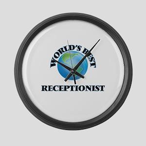 World's Best Receptionist Large Wall Clock