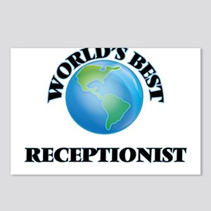 World's Best Receptionist Postcards (Package of 8)