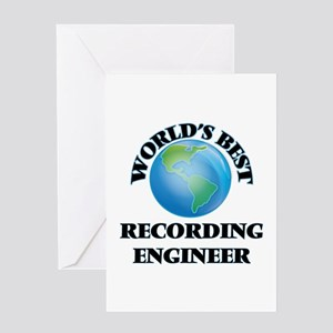 World's Best Recording Engineer Greeting Cards