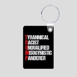 Anti Trump Acrostic Aluminum Photo Keychain