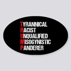 Anti Trump Acrostic Sticker (Oval)