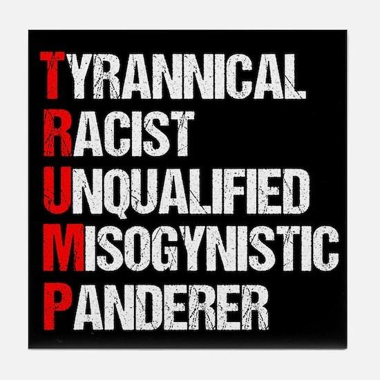 Anti Trump Acrostic Tile Coaster