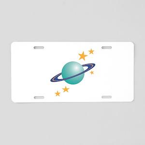 Planet Saturn Aluminum License Plate