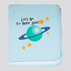 To Outer Space baby blanket
