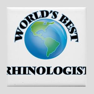 World's Best Rhinologist Tile Coaster