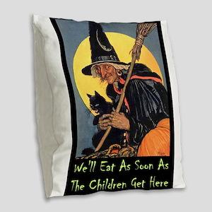 Halloween_WITCH - WELL EAT 10x14 GREEN Burlap