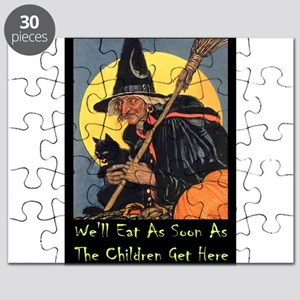 Halloween_WITCH - WELL EAT 10x14 GREEN Puzzle