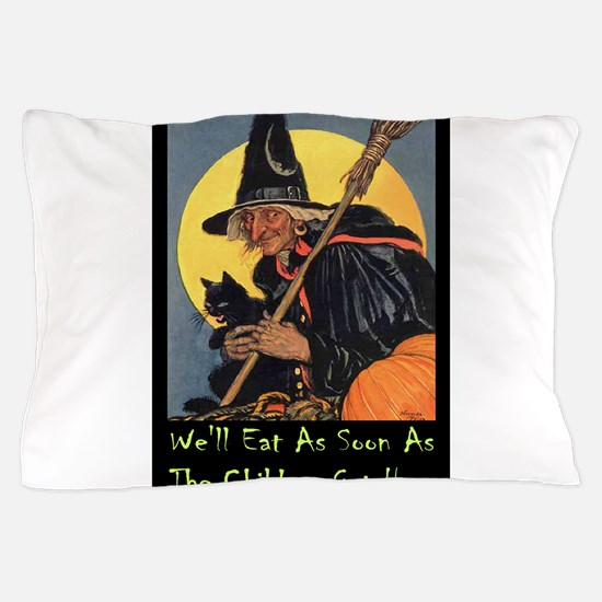 Halloween_WITCH - WELL EAT 10x14 GREEN.png Pillow