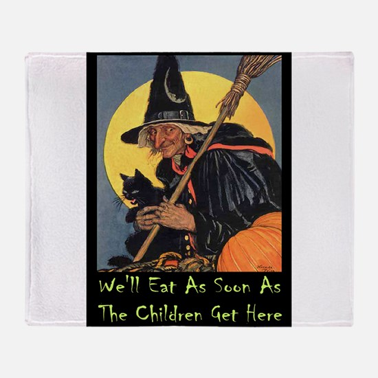 Halloween_WITCH - WELL EAT 10x14 GREEN.png Throw B