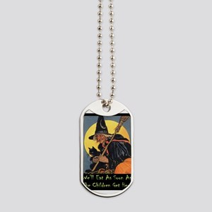 Halloween_WITCH - WELL EAT 10x14 GREEN Dog Tag