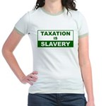 Taxation is Slavery Jr. Ringer T-Shirt