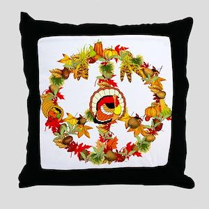 Peace Turkey Throw Pillow