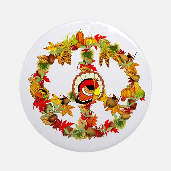 Peace Turkey Ornament (Round)