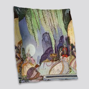 Cinderella by Kay Nielsen Burlap Throw Pillow