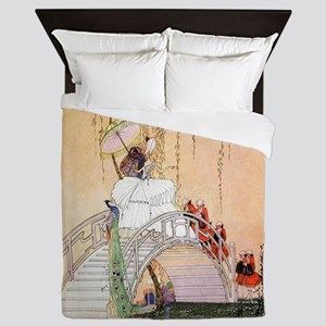 In Powder and Crinoline008 Queen Duvet