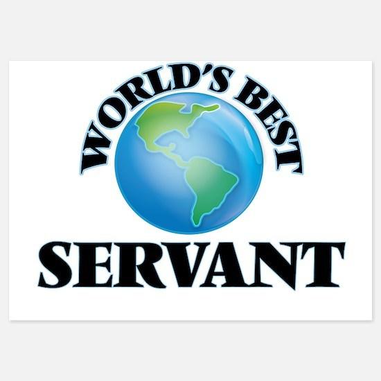 World's Best Servant Invitations
