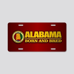 Alabama Born and Bred Aluminum License Plate