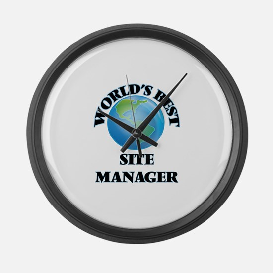 World's Best Site Manager Large Wall Clock