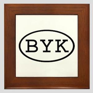 BYK Oval Framed Tile