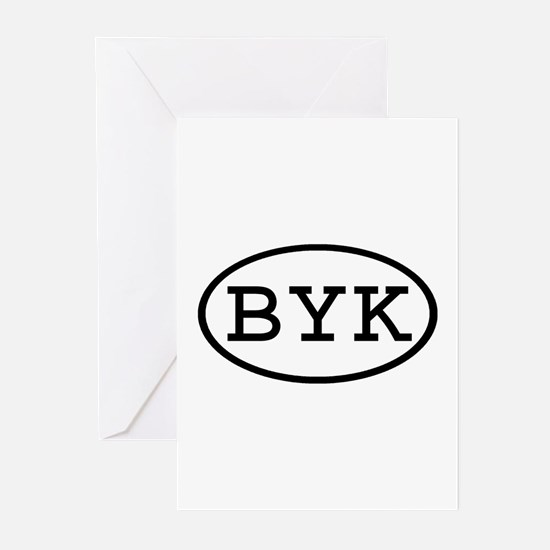 BYK Oval Greeting Cards (Pk of 10)