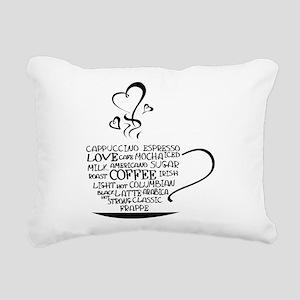 Coffee Cup Rectangular Canvas Pillow