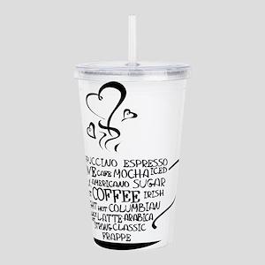 Coffee Cup Acrylic Double-wall Tumbler