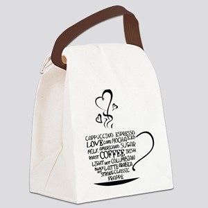 Coffee Cup Canvas Lunch Bag