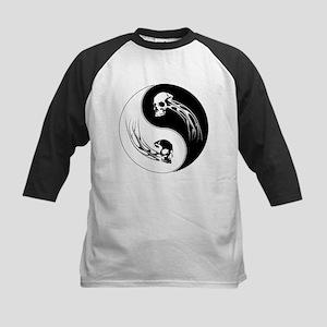 Yin Yang Skulls Kids Baseball Jersey