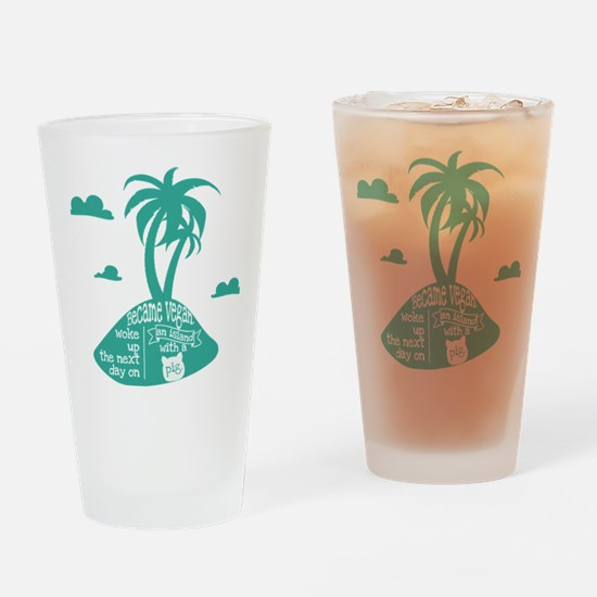 Pig island Drinking Glass
