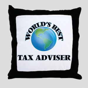 World's Best Tax Adviser Throw Pillow
