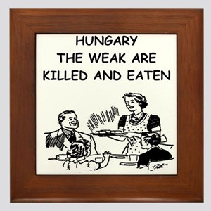 hungary Framed Tile
