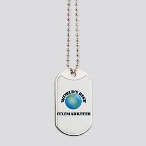 World's Best Telemarketer Dog Tags