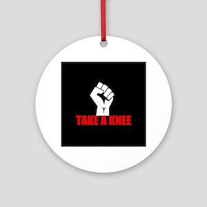 Take a Knee Round Ornament