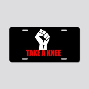 Take a Knee Aluminum License Plate
