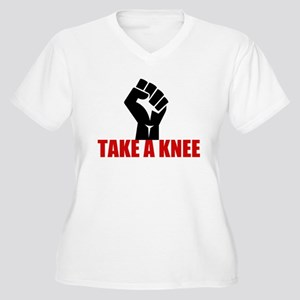 Take a Knee Women's Plus Size V-Neck T-Shirt