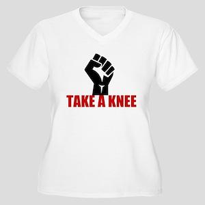 Take a Knee Women's Plus Size V-Neck T-Shirt